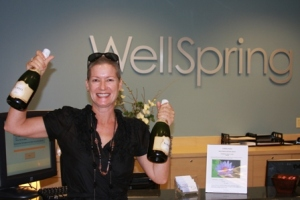 Gwen celebrates her final day of treatment at WellSpring.